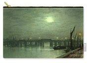 Battersea Bridge By Moonlight Carry-all Pouch by John Atkinson Grimshaw