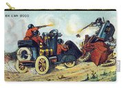 Battle Cars, 1900s French Postcard Carry-all Pouch