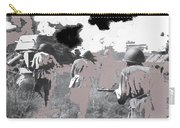 Battle Of Kursk Advancing Soviet Soldiers 1942 Color Added 2016 Carry-all Pouch