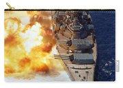 Battleship Uss Iowa Firing Its Mark 7 Carry-all Pouch by Stocktrek Images