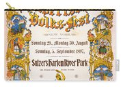 Bavarian Volksfest New York Vintage Poster 1897 Carry-all Pouch
