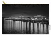 Bay Bridge San Francisco California Black And White Carry-all Pouch