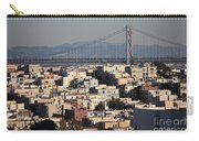 Bay Bridge With Houses And Hills Carry-all Pouch
