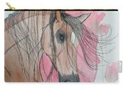 Bay Horse Watercolor Carry-all Pouch