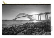 Bayonne Bridge Black And White Carry-all Pouch
