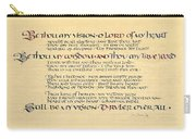 Be Thou My Vision Carry-all Pouch by Judy Dodds