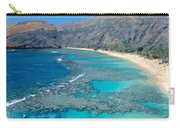 Beach And Haunama Bay, Oahu, Hawaii Carry-all Pouch