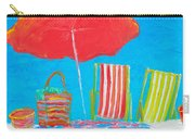 Beach Art - The Red Umbrella Carry-all Pouch