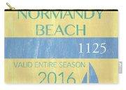 Beach Badge Normandy Beach 2 Carry-all Pouch