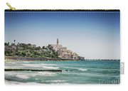 Beach By Jaffa Yafo Old Town Area Of Tel Aviv Israel Carry-all Pouch