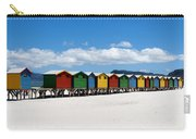 Beach Cabins  Carry-all Pouch by Fabrizio Troiani