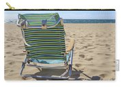 Beach Chair On A Sandy Beach Carry-all Pouch