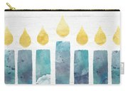 Beach Colors Menorah- Art By Linda Woods Carry-all Pouch