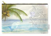 Beach Etching Carry-all Pouch by Darren Cannell