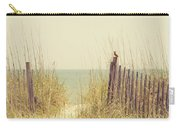 Beach Fence In Grassy Dune South Carolina Carry-all Pouch