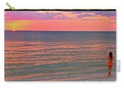 Beach Girl And Sunset Carry-all Pouch