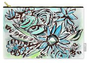 Beach Glass Flowers 1- Art By Linda Woods Carry-all Pouch