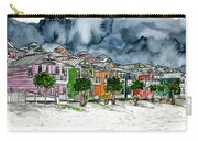 Beach Houses Watercolor Painting Carry-all Pouch