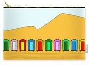 Beach Huts And Sand Carry-all Pouch