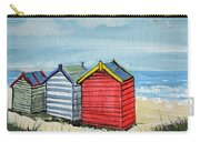 Beach Huts On The Sand Carry-all Pouch