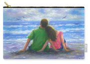 Beach Lovers Pink And Green Carry-all Pouch