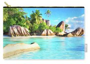 Beach On La Digue Seychelles Carry-all Pouch