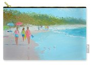 Beach Painting 'beach Strolling' By Jan Matson Carry-all Pouch