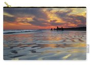 Beach Play At Dusk Carry-all Pouch