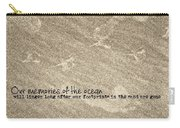Beach Prints Quote Carry-all Pouch
