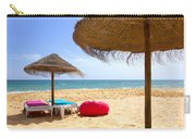 Beach Relaxing Carry-all Pouch by Carlos Caetano