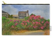 Beach Roses And Cottages Carry-all Pouch