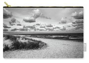 Beach Sunset Bw Carry-all Pouch
