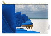 Beach Umbrellas 3 By Darrell Hutto Carry-all Pouch