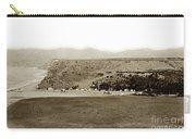 Beach View At Santa Monica Circa 1880 Carry-all Pouch