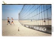 Beach Volleyball Net On The Sand At Long Beach, Ca Carry-all Pouch