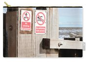 Beach Warning Carry-all Pouch
