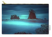 Beach With Sea Stacks In Moody Lighting Carry-all Pouch