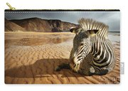 Beach Zebra Carry-all Pouch