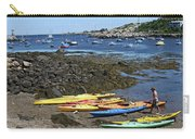 Beached Kayaks At Rockport Harbor Carry-all Pouch