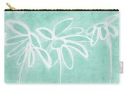 Beachglass And White Flowers 3- Art By Linda Woods Carry-all Pouch