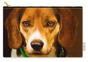 Beagle Hound Dog In Oil Carry-all Pouch