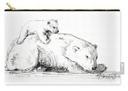 Bear And Cub Carry-all Pouch