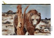 Bear And Stump Carry-all Pouch