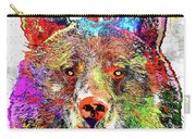 Bear Colored Grunge Carry-all Pouch