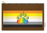Bear Colors With Rainbow Paw Carry-all Pouch