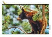 Bear Cub In A Tree 3 Carry-all Pouch