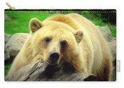 Bear On A Log Carry-all Pouch