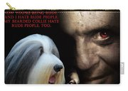 Bearded Collie Art Canvas Print - Hannibal Movie Poster Carry-all Pouch