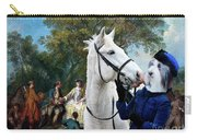 Bearded Collie Art Canvas Print - Picnic After The Hunt Carry-all Pouch