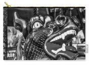 Bearded Dragon Ride Black And White Carry-all Pouch